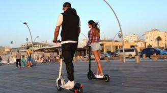 Şehir içi kısa mesafede yeni trend elektrikli scooter