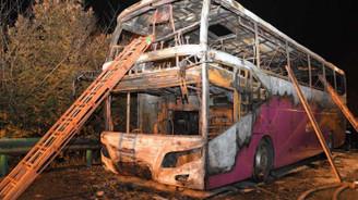 Çin'de otobüs yandı: 26 ölü, 28 yaralı
