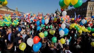 Kızıl Meydan'da 1 Mayıs yürüyüşü