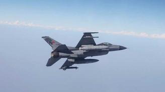 İki F-16 ile Suriye hava sahasında uçuş görevleri gerçekleştirildi