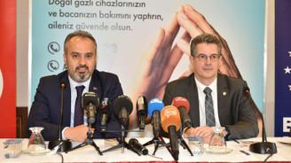 Bursa'da 'Güvenli Doğalgaz Kullanımı' kampanyası