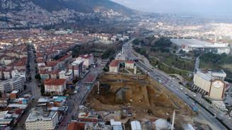 Osmangazi Meydanı'nda çalışmalar sürüyor