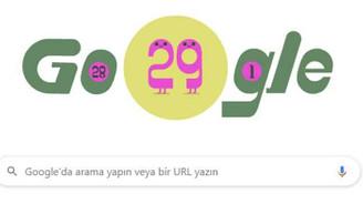 Google'dan 29 Şubata özel doodle