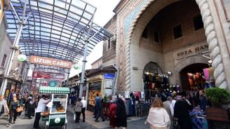 Tarihi Bursa Kapalıçarşı kepenk kapattı