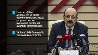 YÖK Başkanı: 'Üniversitelerde bahar döneminde yüz yüze eğitim yapılmayacak