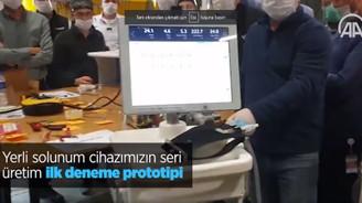Yerli solunum cihazımızın seri üretim ilk deneme prototipi üretildi