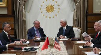 Cumhurbaşkanı Erdoğan, ABD Başkan Yardımcısı Pence ile görüştü