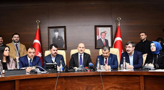 3 Bakan'dan Elazığ'da ortak açıklama