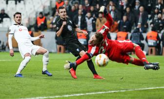 Beşiktaş Avrupa'ya veda etti
