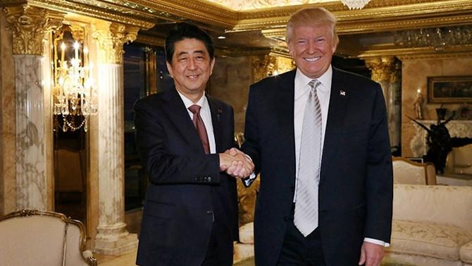 Trump, Japonya Başbakanı ile görüşecek