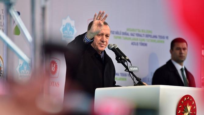 Erdoğan, Aksaray'daki doğalgaz tesisini açtı