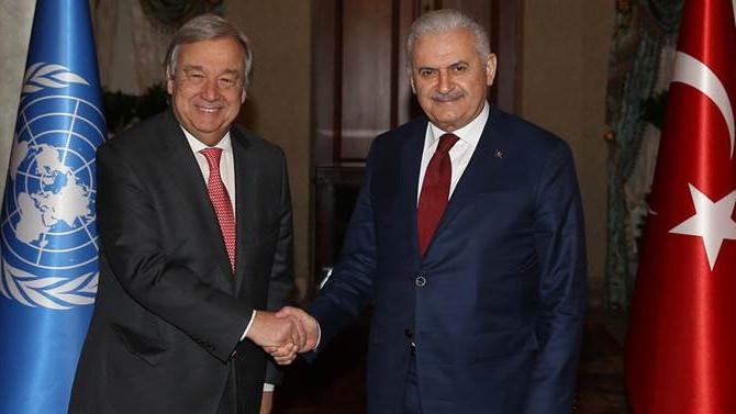 Yıldırım ve Guterres'den ortak açıklama