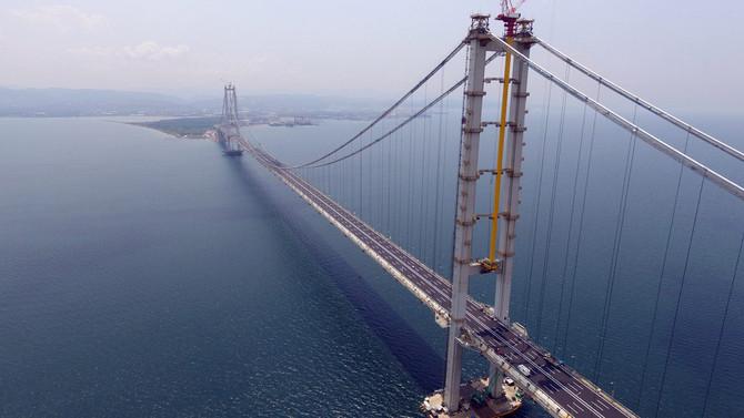 Osmangazi Köprüsü'ne 3.5 milyar dolarlık sigorta
