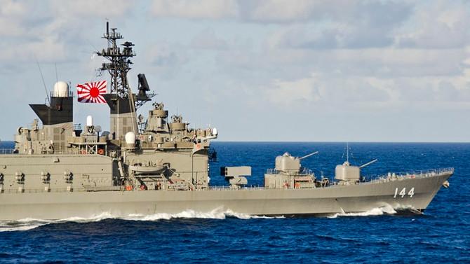 Japon destroyerleri, tatbikat için yola çıktı