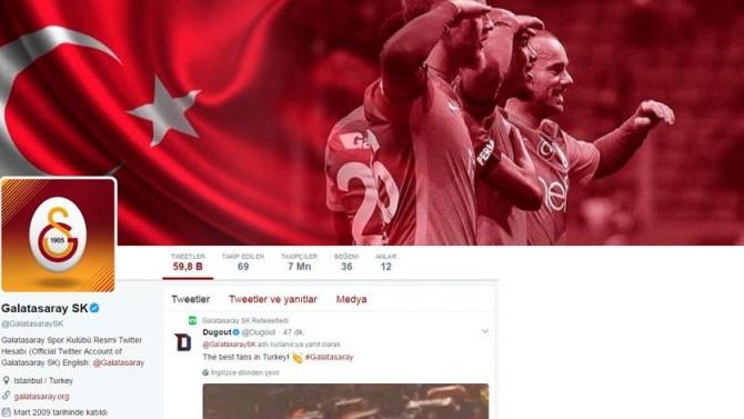 Twitter'da lider Galatasaray