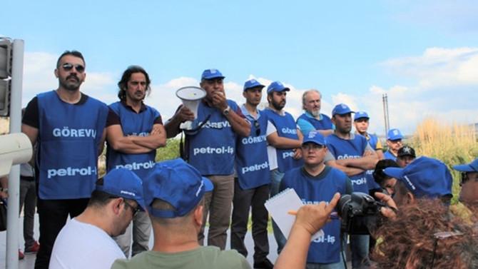 Eylemi sürdüren sendika yönetimine polis müdahalesi: 14 gözaltı