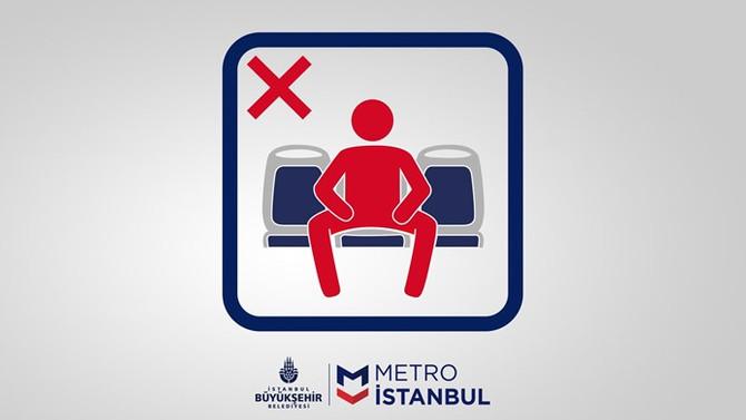 Metro İstanbul'dan yayılarak oturma uyarısı