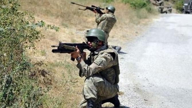 PKK'lıların bulunduğu bölge ateş altına alındı