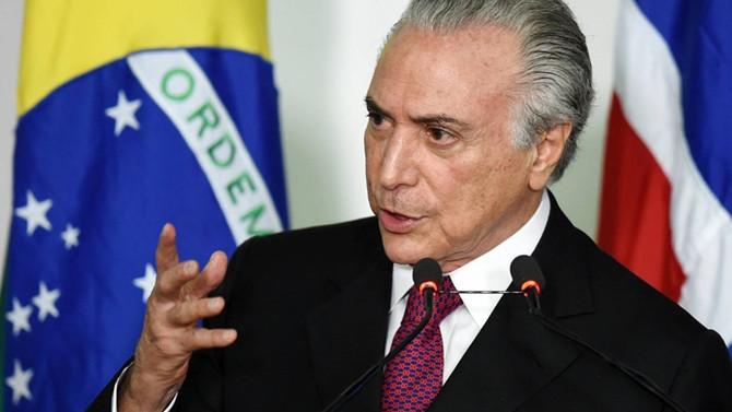 Brezilya Devlet Başkanı Temer için soruşturma izni