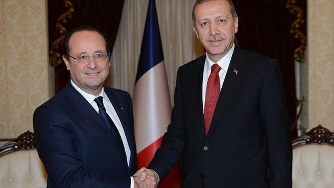 Erdoğan, Hollande ile IŞİD'i görüştü