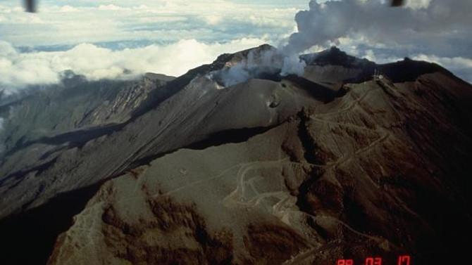 Kolombiya'da Volkan patlaması