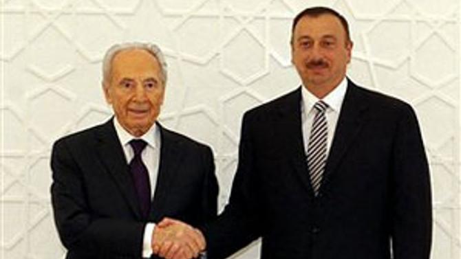 Peres ile Aliyev biraraya geldi
