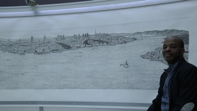 'Dahi Bellek', İstanbul'u çizdi