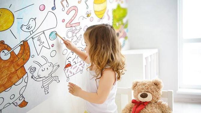 Çocuklar duvarları özgürce boyayabilecek