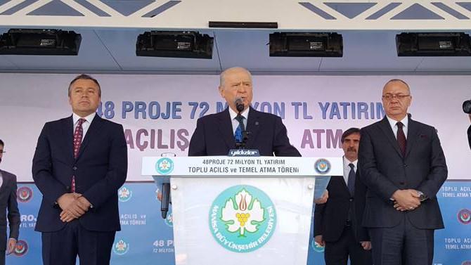 Bahçeli: AK Parti ile yan yanayız