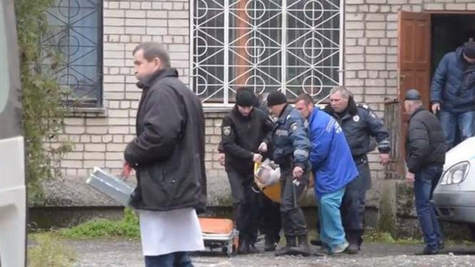 Ukrayna'da mahkemede patlama