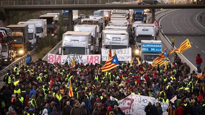 Katalonya'da genel grev başlatıldı