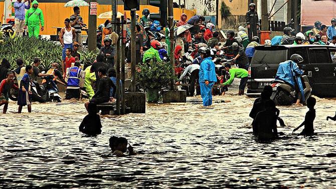 Endonezya'da 100 milyon kişi için sel riski