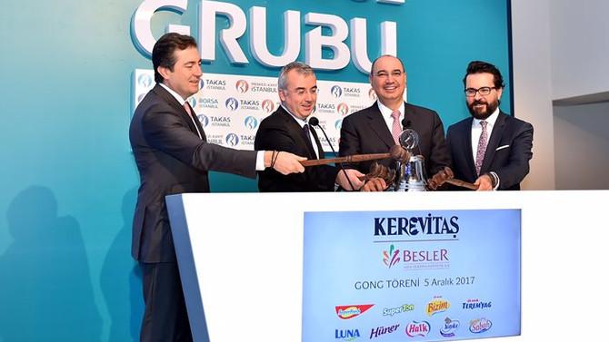 Borsa İstanbul'un gongu bu kez Kerevitaş için çaldı