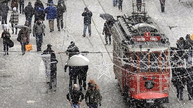 Kar, İstanbul'u cuma günü terkedecek