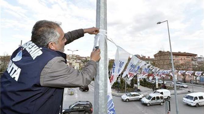 Ankara'da propaganda afişleri toplanıyor
