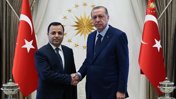 Erdoğan, AYM Başkanı'nı kabul etti
