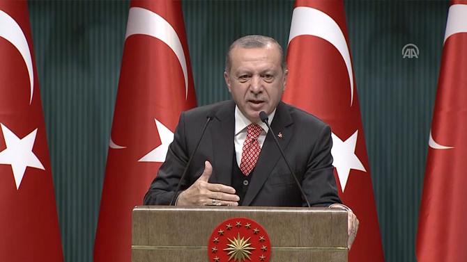 Erdoğan'dan ABD'ye 'koruma' tepkisi