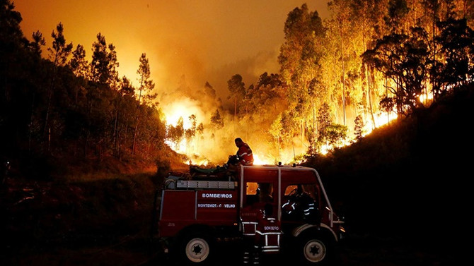 Portekiz'de orman yangınında ölenlerin sayısı 61'e çıktı