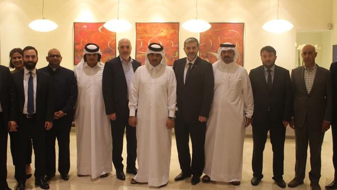 Türk iş adamları Katar'da
