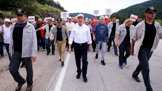 Adalet yürüyüşü 11. gününde