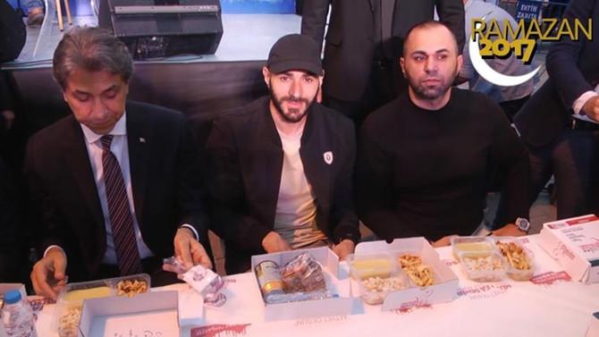 Benzema, Fatih'teki sokak iftarında