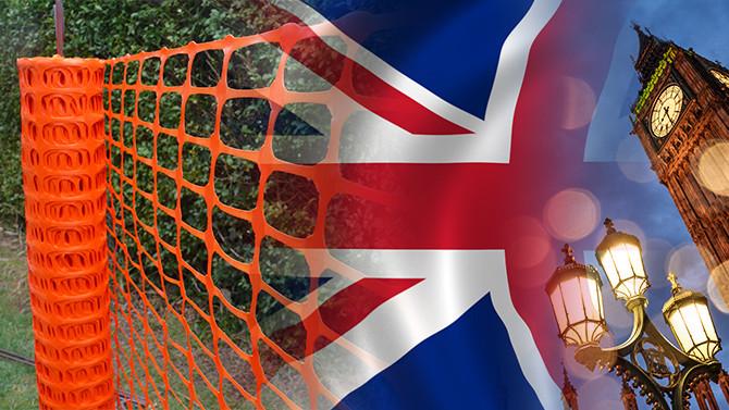 İngiliz müşteri toptan plastik bariyer ağ satın alacak