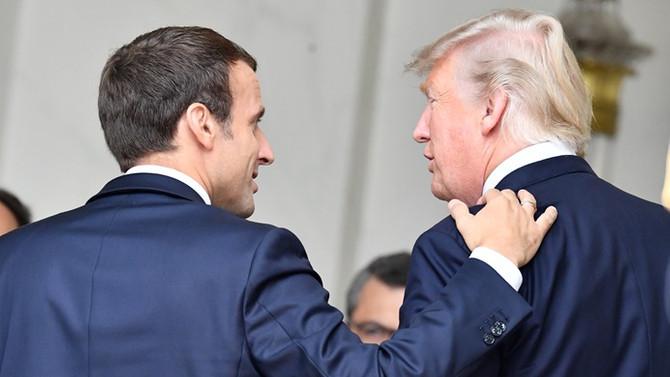 Macron, Trump'la görüştü