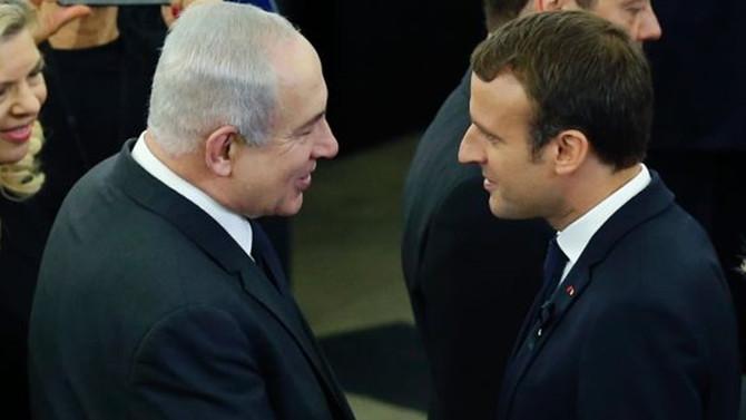 Macron ile Netanyahu görüştü