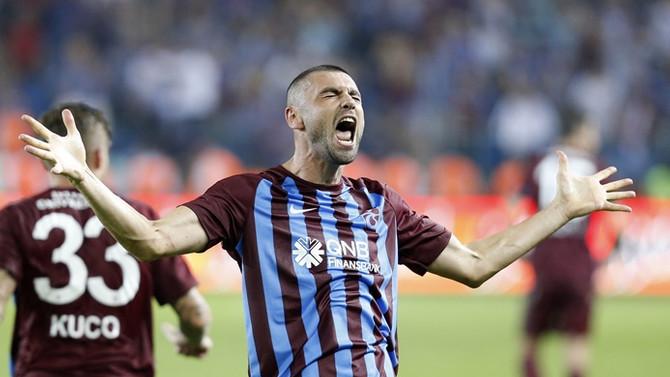 Trabzonspor, Burak'ın golleriyle kazandı