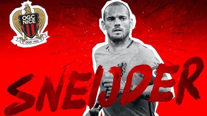 Sneijder resmen Nice'te