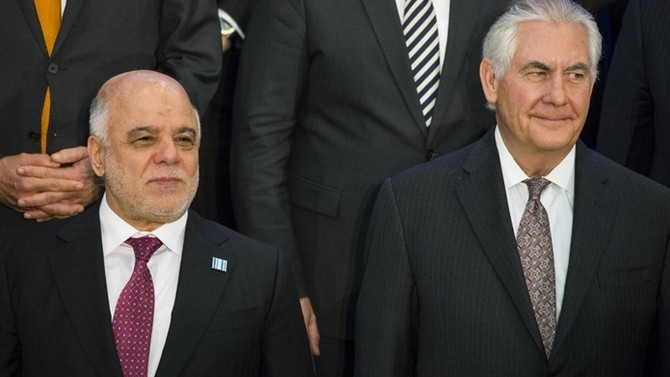 Tillerson'dan İbadi'ye destek