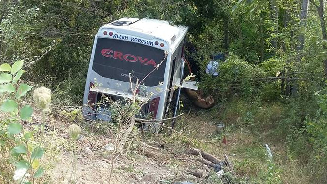 Amasya'da midibüs devrildi: 26 yaralı