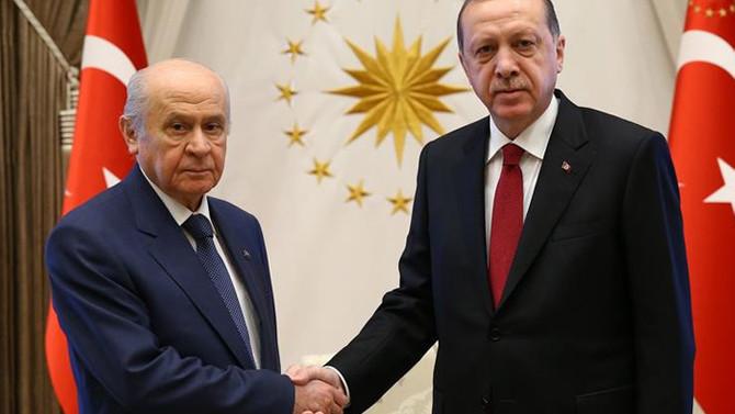 Erdoğan-Bahçeli Beştepe'de görüştü