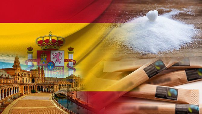 İspanyol firma mini toz şeker stick ambalajı satın alacak
